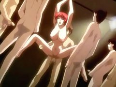 Tied up redhead toon gets fucked and filmed